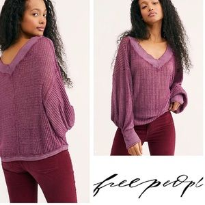 Free People Southside Thermal Top Violet XS